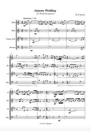 Autumn Wedding – for Woodwind Quartet