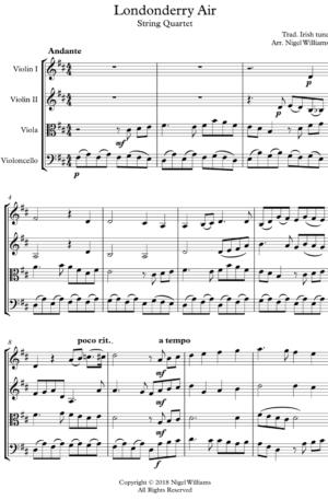 Londonderry Air – String Quartet