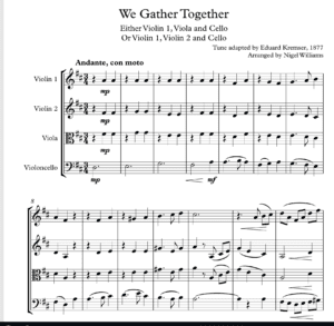 We Gather Together – String Trio