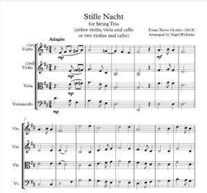 Stille Nacht – String Trio