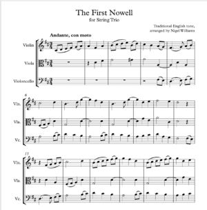 The First Nowell – String Trio