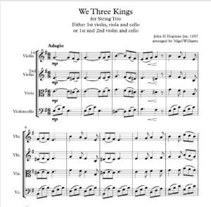 We Three Kings of Orient Are – String Trio