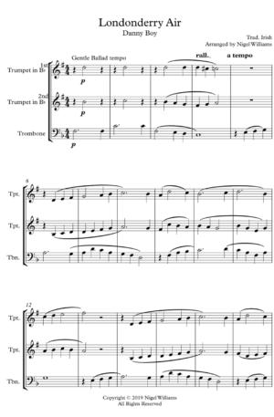 Londonderry Air – Brass Trio