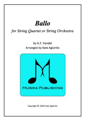 Ballo – for String Quartet or String Orchestra