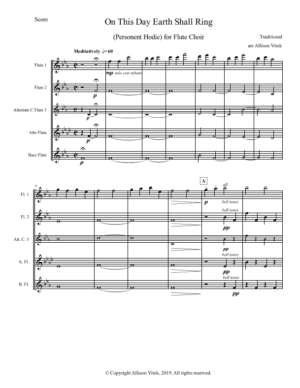 On This Day Earth Shall Ring – Flute Choir