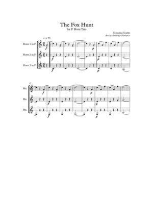 THE FOX HUNT – horn trio