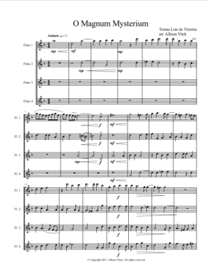 O Magnum Mysterium – Score and Parts