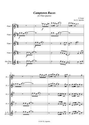 Camptown Races – Flute Quartet