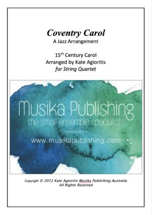 Coventry Carol – Jazz Carol for String Quartet