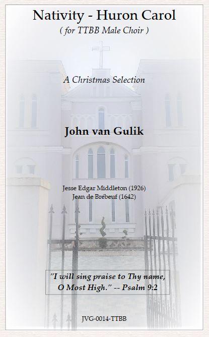 JVG 0014 TTBB Nativity Huron Carol Title Page
