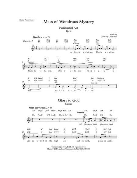 MASS OF WONDROUS MYSTERY guitarvocal
