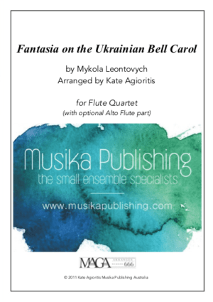 Fantasia on the Ukrainian Bell Carol – Flute Quartet