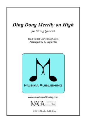 Ding Dong Merrily on High – String Quartet