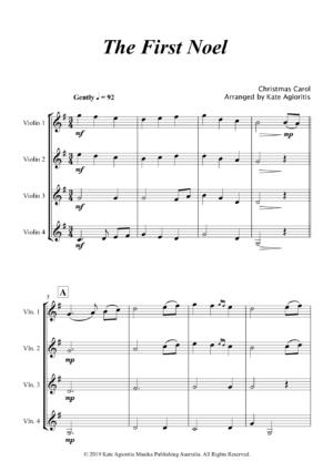 The First Noel – Violin Quartet