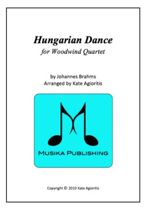 Hungarian Dance (Jazz Arrangement) – Woodwind Quartet