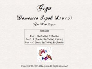 Zipoli – Giga