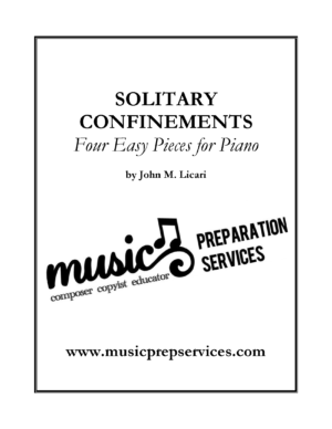 Solitary Confinements – John M. Licari (Four Easy Pieces For Piano)