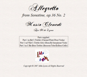 Flexi Trio – Clementi Allegretto