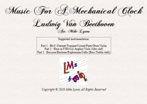 Mixed Trio – Music For a Mechanical Clock