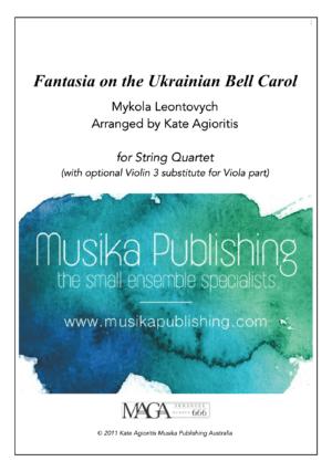 Fantasia on the Ukrainian Bell Carol – String Quartet
