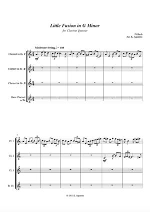Little Fusion in G Minor – Clarinet Quartet