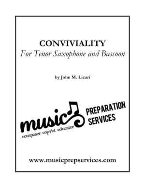 Conviviality – John M. Licari (Duet for Tenor Saxophone & Bassoon)