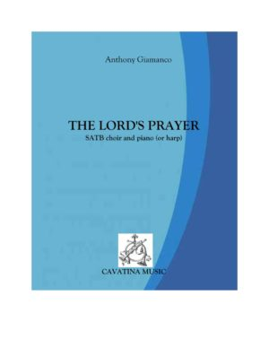 THE LORD'S PRAYER – SATB choir and piano (score), harp part