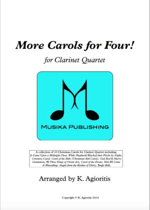 More Carols for Four – Clarinet Quartet