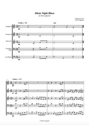 Silent Night Blues – Brass Quartet