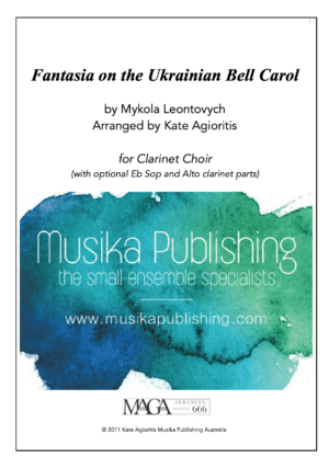 Fantasia on the Ukrainian Bell Carol – Clarinet Choir