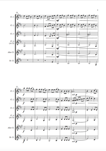 Fantasia Clarinet Choir