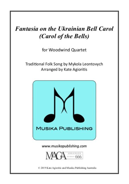 Fantasia on the Ukrainian Bell Carol - Woodwind Quartet