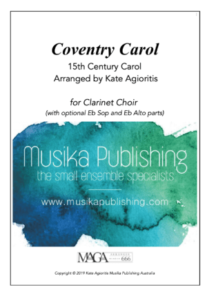 Coventry Carol for Clarinet Choir