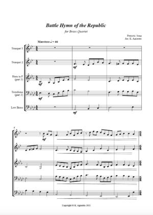 Battle Hymn of the Republic (Jazz Arrangement) – Brass Quartet