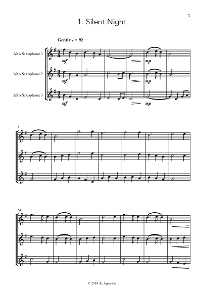 Carols for Three Sax