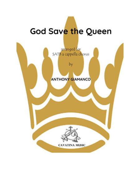 GOD SAVE THE QUEEN - SATB a cap.