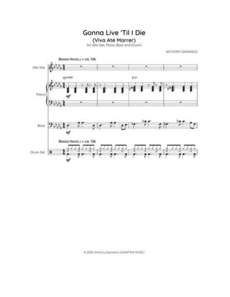 GONNA LIVE TIL I DIE jazz quartet p. 1