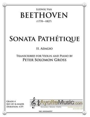 Adagio from Sonata Pathetique – Violin and Piano