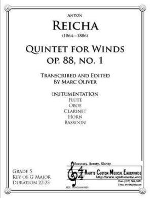 Quintet for Winds Op. 88 No. 1