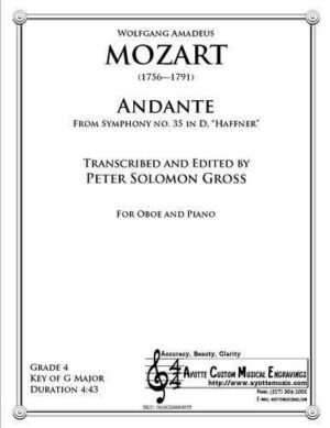Andante from the Haffner Symphony for Oboe and Piano