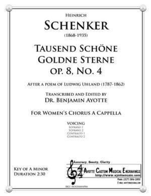 Tausend Schoene Goldene Sterne, Op. 8, No. 4