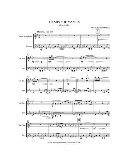 TIEMPO DE VAMOS [tenor sax, bassoon]