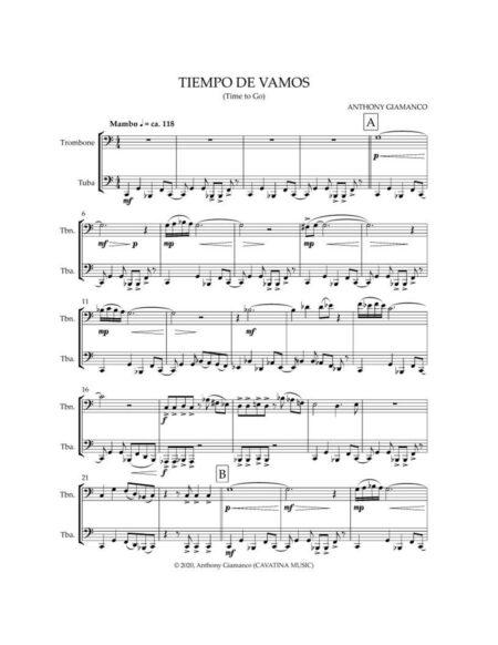 TIEMPO DE VAMOS [trombone, tuba]