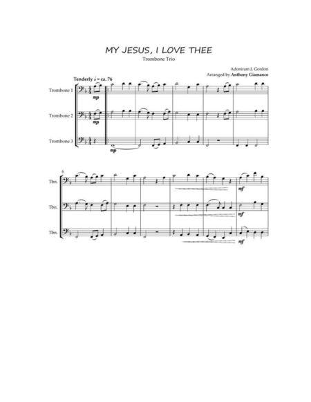 MY JESUS, I LOVE THEE [trombone trio]