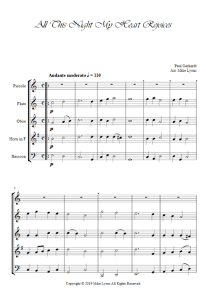 Wind Quintet – All This night My Heart Rejoices (PFOHB)