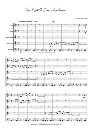God Rest Ye, Merry Gentlemen – Wind Quintet