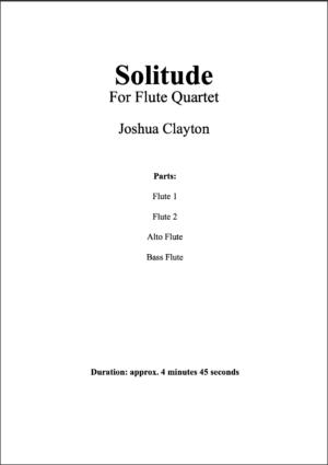 Solitude – Flute Quartet