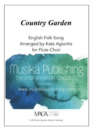 Country Garden – Jazz Arrangement for Flute Choir
