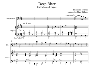 Deep River, for Cello and Organ