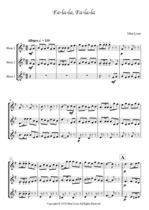 Horn Trio – Fa-la-la, Fa-la-la